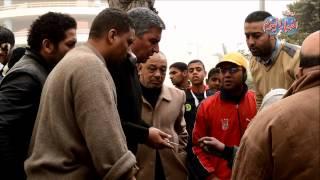 مأمور قسم بولاق أبو العلا يتحفظ علي شجرة قبل سرقتها بعد سقوطها