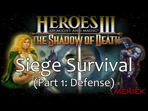 Heroes of Might and Magic III: Siege Survival Challenge 1v7 (200%) [Part 1]