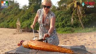 Big Grill Fish Recipe in Goa Beach By Professional Chef | Volga Videos