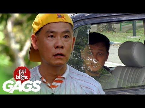 【ドッキリ!】車のガラスを割る少年に唖然とする人たち