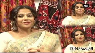 I Like To Wear Saree : Actress Vidya Balan
