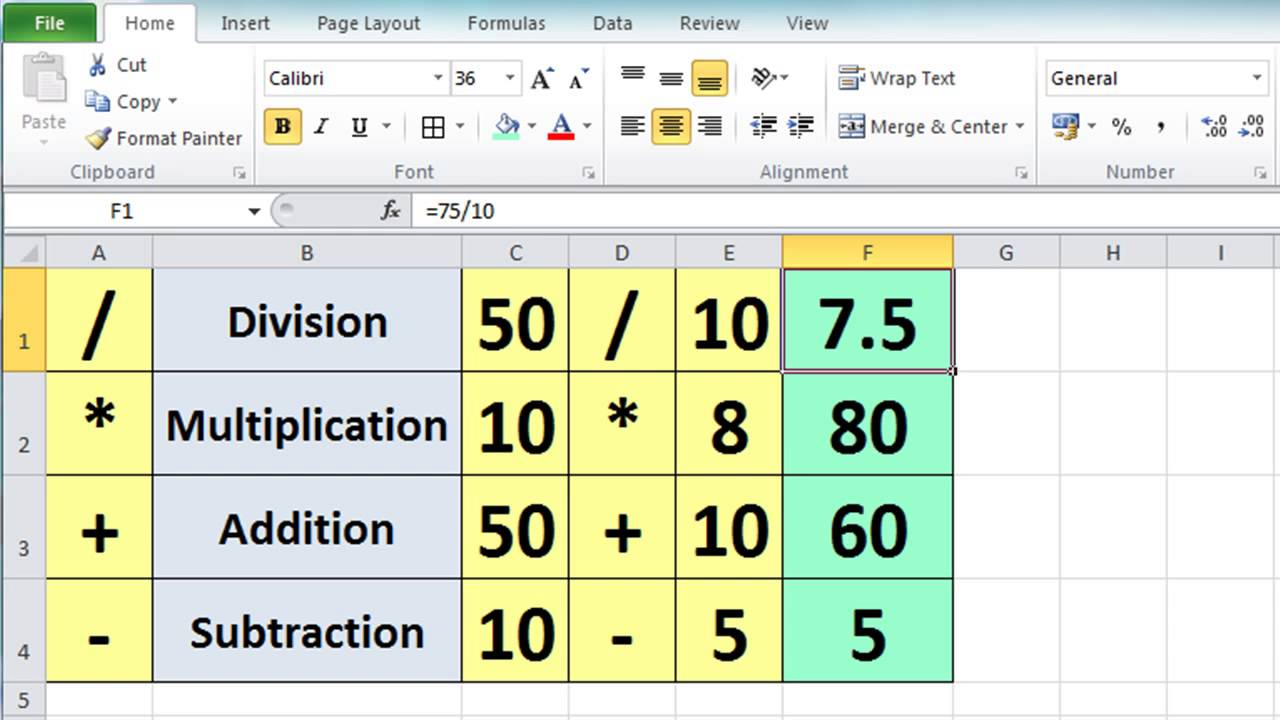 Excel 2010 Tutorial For Beginners #3 - Calculation Basics & Formulas ...