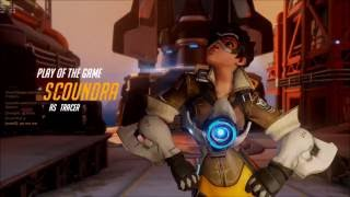 Overwatch - Tracer Quadra Kill (Play of The Game)