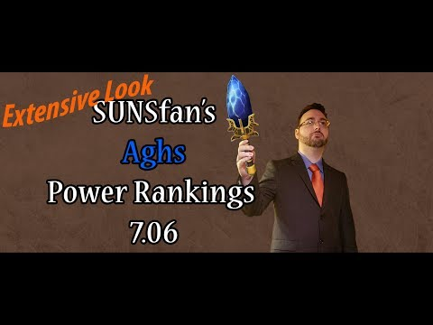 Dota 2 SUNSfan's Aghs Power Rankings 7.06 (Extensive Look)