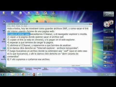 Video tutorial, Como copiar archivos SWF o Flash de la Web