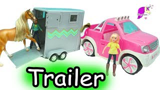 Loading Spirit Riding Free Breyer Horses Into Lori Doll Horse Truck & Trailer Set