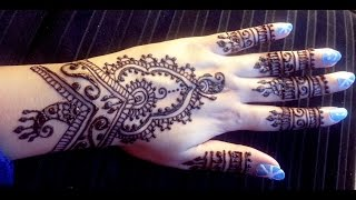 Pretty Indian Henna  - Easy Stylish Mehendi Design Tutorial - Best Latest Henna Design 2015