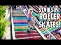 HOW TO GO UP AND DOWN STAIRS IN ROLLER SKATES Planet Roller Skate Ep 6 mp3