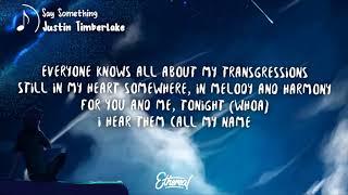 Download Lagu Justin Timberlake - Say Something Lyrics ft. Chris Stapleton Gratis STAFABAND