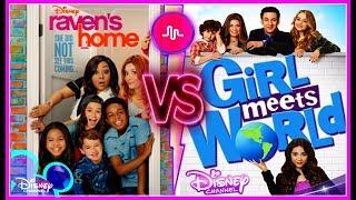 Raven's Home VS Girl Meets World Musical.ly Battle | Famous Disney Stars Musically 2017