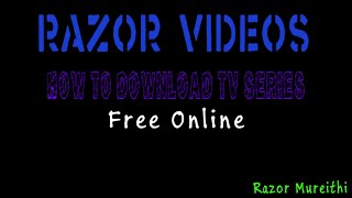 Download Tv Series Online for Free Online