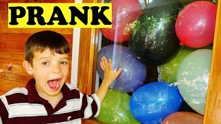 ENTIRE ROOM FULL OF BALLOONS Prank! Funniest Videos for Kids with PJ Masks Catboy