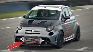 360HP Abarth 695 Biposto POCKET ROCKET! - Time Attack Build ONBOARD @ Monza!