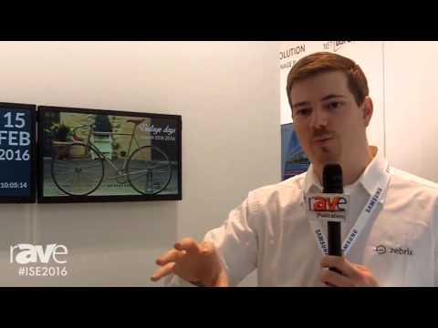 ISE 2016: Zebrix Shows Off their Content Management System with Samsung Technology