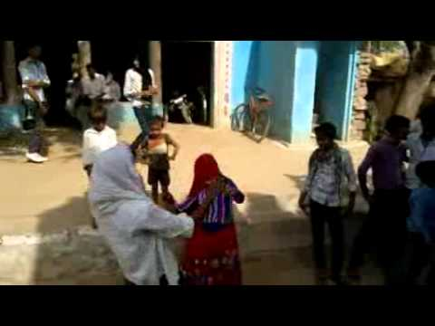 gurjar dance AT Mahloni village by local couple on ramdhan rasiya...