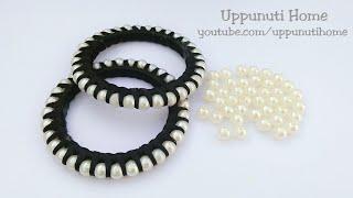How To Make Designer Silk Thread Fancy Side Bangles //How To Make Silk Thread Bangles  // DIY