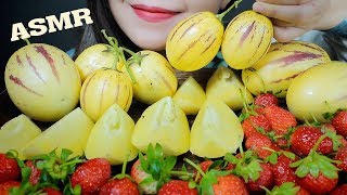 ASMR EATING PEPINO MELON AND STRAWBERRY EATING SOUNDS | LINH-ASMR