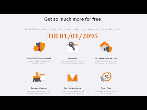Latest version of avast! Free Antivirus - License key till 2095 ✔