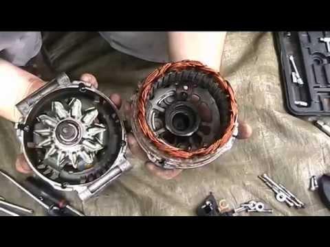 alternator repair noisy bearings replacement youtube. Black Bedroom Furniture Sets. Home Design Ideas