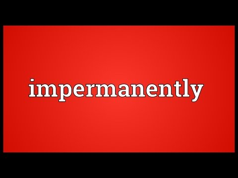 Header of impermanently