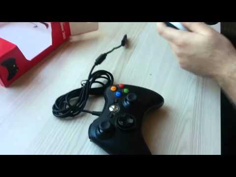 Microsoft Xbox 360 Kablolu PC Gamepad kutu açılımı ve incelemsi(unboxing and review