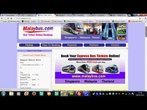 How to Booking Bus ticket in Malaysia,Singapore