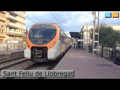 Rodalies Barcelona : Sant Feliu de Llobregat R1 - R4 ( Renfe Civia - 447 )