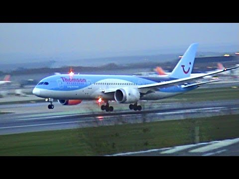 Airplanes Landing And Taking Off video