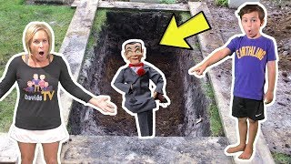 We Bury SLAPPY and He Comes Back! We Can't Get Rid of Slappy!