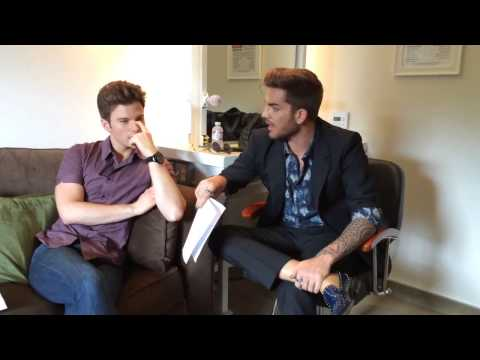 The Talk, Chris Colfer & Adam Lambert what would happen if they reunited to perform