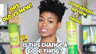 NEW! ORS Nourishing Sheen Spray w/Coconut Oil (Old vs. New Formula) - NaturalMe4C - 4C Hair
