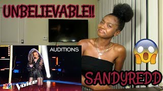 "SandyRedd Gets Four Turns with Bishop Briggs' ""River"" - The Voice 2018 Blind Auditions (REACTION)"