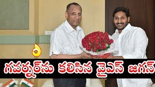 YS Jagan Meet With Governor at Rajbhavan Hyderabad | YS Bharathi | AP CM Jagan | Top Telugu Media