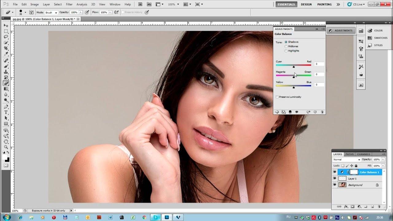 Обработка фотографии в фотошопе своими руками