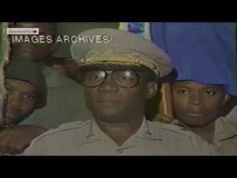 Président Général Prosper Avril. Arrestation  d'Evans Paul.