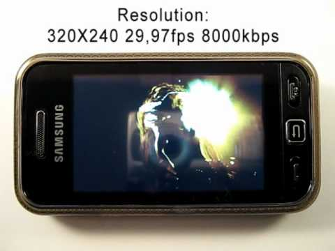 Samsung Star GT S5230 Playing Videos  -  HD Review.avi