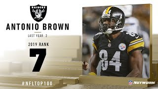 #7: Antonio Brown (WR, Raiders) | Top 100 Players of 2019 | NFL