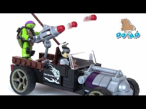 Черепашки Ниндзя Мультик TMNT Donnie Turtle Racer Кейси Джонс и Донни! Игрушки для Мальчиков
