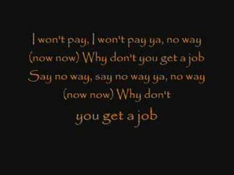 The Offspring - Why Don&#039;t you get a job? Lyrics