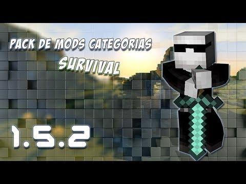 Pack de Mods Minecraft 1.5.2   #2 CATEGORIAS [SURVIVAL] (55 mods)   JTMineMods