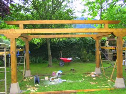 Construccion cenador youtube - Gazebos de madera ...