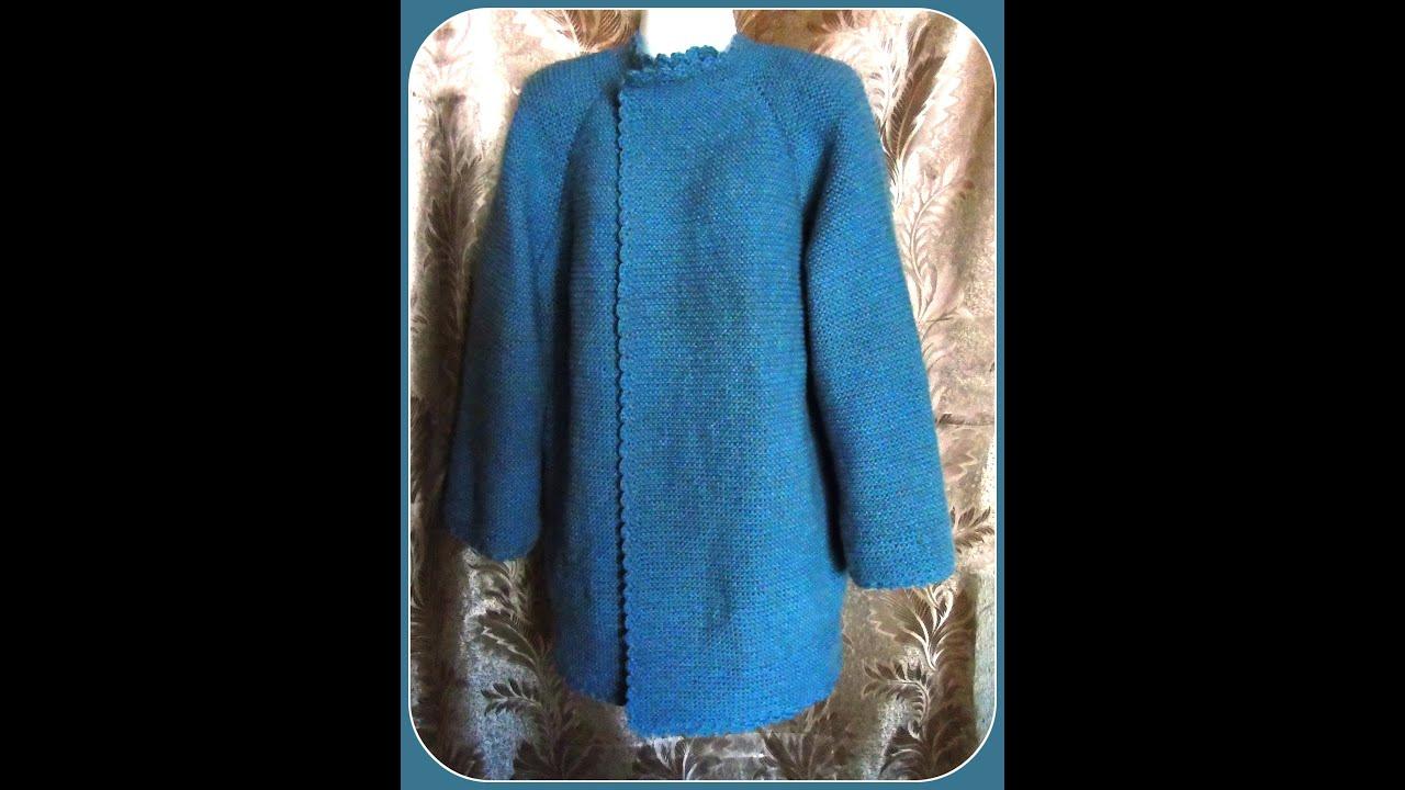 Вязание пальто реглана