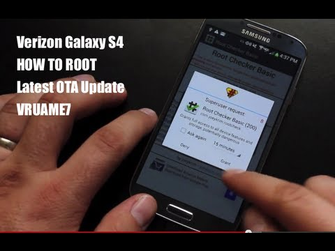 Verizon Galaxy S4 How To ROOT VRUAME7 Latest OTA Update! EASY