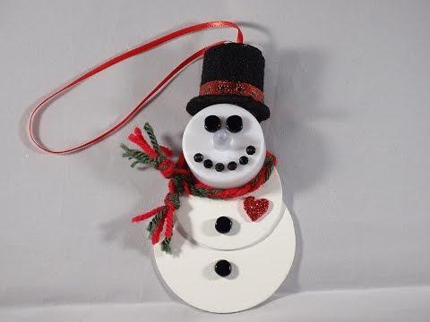 Tealight Snowman Ornament - Teamécses hóember dísz