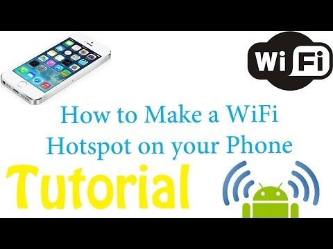 How To-Make a portable Wifi Hotspot on an Android Phone through Settings