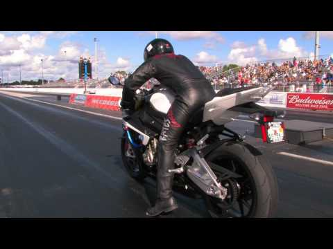 BMW S1000RR 1/4 mile performance test with Keith Dennis