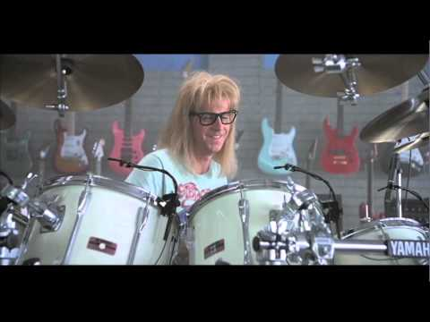 Watch It S Drum Camp Stupid Wayne S World full online streaming with    Garth Algar Drums