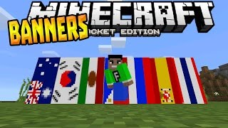 BANNERS in MCPE 0.15.6!!! - Banners Mod - Minecraft PE (Pocket Edition)
