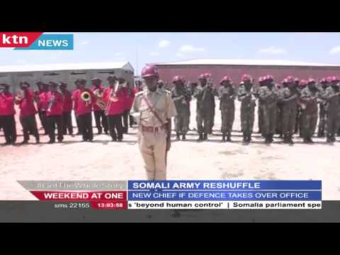 New chief of defense forces of Somali Maj. Gen. Mohamed Adan Ahmed takes over office