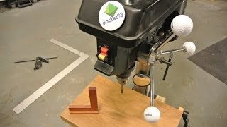 Square your drill press table plane. It